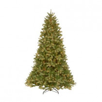 10 ft. FEEL-REAL Downswept Douglas Fir Artificial Christmas Tree with 1000 Clear Lights