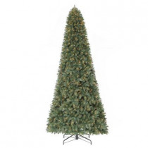 12 ft. Morgan Pine Quick-Set Artificial Christmas Tree with 1100 Clear Lights