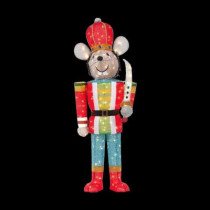 5 ft. Pre-Lit Tinsel Mouse Soldier