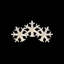 15-Light LED White to Blue Color-Changing Snowflake Light Set
