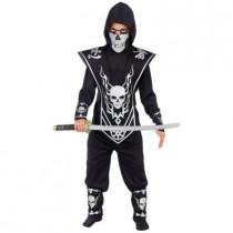 Boys Silver Skull Lord Ninja Costume