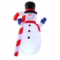 10 ft. H Projection Kaleidoscope Inflatable Snowman