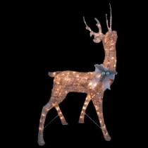 48 in. Pre-Lit Gold Deer
