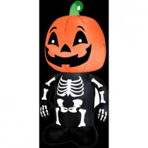 3.5 ft. Inflatable Pumpkin Boy Skeleton