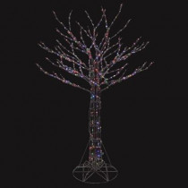 6 ft. Pre-Lit LED Deciduous Tree Sculpture with Color Changing Lights