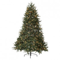 7.5 ft. Just Cut Fraser Fir EZ Light Artificial Christmas Tree with 750 Clear Lights
