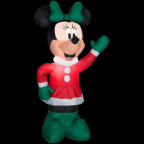 Disney 3.5 ft. Inflatable Outdoor Minnie in Winter Outfit
