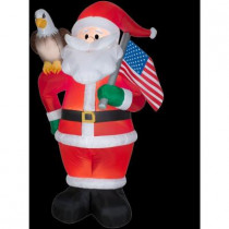 7 ft. H Inflatable All American Santa