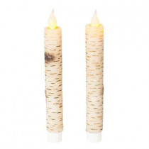 7.5 in. LED Birch Taper Candle (Pack of 2)