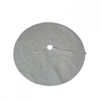 52 in. White Quilted Christmas Tree Skirt