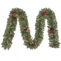 12 ft. Winslow Artificial Garland with 100 Clear Lights