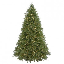 9 ft. Feel-Real Jersey Fraser Fir Artificial Christmas Tree with 1500 Clear Lights