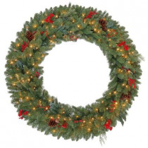 48 in. Winslow Artificial Wreath with 120 Clear Lights