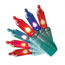 150-Light Incandescent Red, Green and Blue 8-Function Light Set