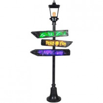 6 ft. Lamp Post with Lighted Signs and Short Circuit effects