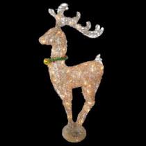 36 in. Pre-Lit Rattan Reindeer