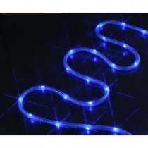 72-Light 18 ft. LED Blue Mesh Rope Lights
