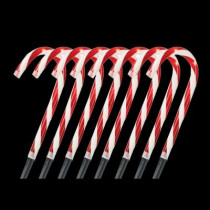 10 in. Pre-Lit Candy Cane Pathway Stakes (Set of 8)