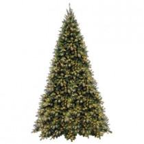 12 ft. Tiffany Fir Medium Artificial Christmas Tree with Clear Lights