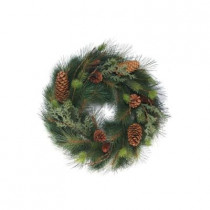 Evergreen Collection 30 in. Pine, Fir, Juniper Artificial Christmas Wreath