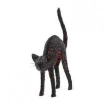 38 in. Pre-Lit Tinsel Animated Cat