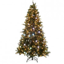 7.5 ft. iTwinkle Just Cut Spruce Artificial Christmas Tree with 500 Multi-Function LED Lights and Speaker