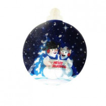 9 in. Snowmen Indoor Hanging Decor with 10 LED Lights