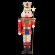 5 ft. Pre-Lit Tinsel Nutcracker Soldier