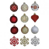 2.3 in. Cranberry Frost Shatter-Resistant Ornament (101-Pack)