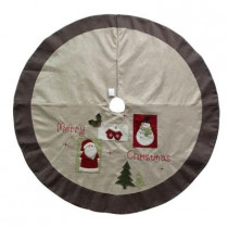 54 in. Burlap Christmas Tree Skirt
