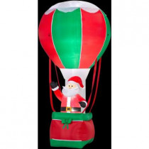 12 ft. H Inflatable Santa in Hot Air Balloon