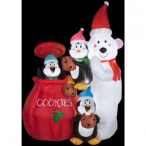 6.5 ft. H Inflatable Animated Cookie Jar and Friends