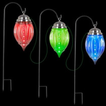 Multi-color Shooting Star Pathway Ornament Stakes (Set of 3)