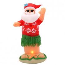 6 ft. Inflatable Animated Santa Dances the Hula