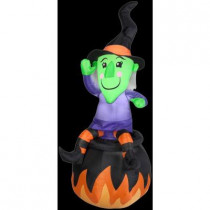 4.5 ft. Inflatable Witch on Cauldron