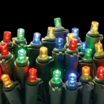 50-Light LED Multi-Color Concave Bulb Light String Set