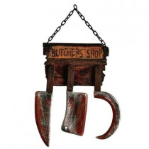 Butcher Shop Sign with Tools