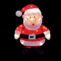 18 in. Pre-Lit Santa Claus