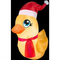 3 ft. H Inflatable Rubber Ducky Santa