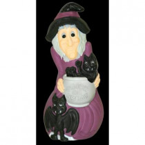 33 in. Lighted Witch