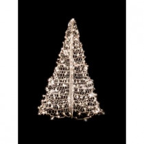 5 ft. Indoor/Outdoor Pre-Lit Incandescent Artificial Christmas Tree with White Frame and 350 Clear Lights