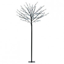 59 in. Black LED Tree Post Light