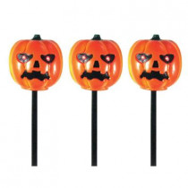 Battery Operated Pumpkin Light and Sound Haunted Pathmarkers (3-Pack)