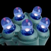 100-Light LED Blue Dome Light Set