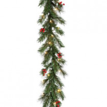9 ft. Noble Artificial Garland with 50 Clear Lights