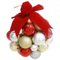 10 in. Cranberry Frost Shatter-Resistant Ornament Kissing Ball
