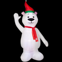 7 ft. H Inflatable Polar Bear with Scarf