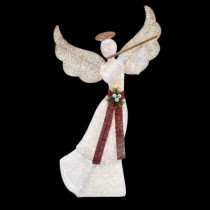 5 ft. Pre-Lit White Angel with Flute