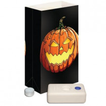 11 in. Candle Luminaria Kit - Jack- O'-Lantern Flame Resistant (Set of 12)