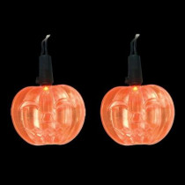 LED Orange Battery Operated Pumpkin Lights (Set of 10)